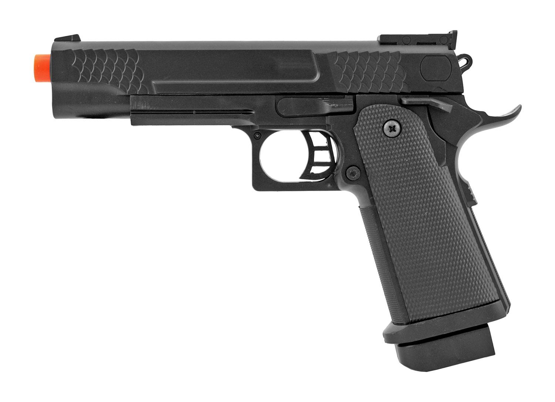 UK Arms P2002BAG Spring Powered Police Issue Airsoft Handgun - Black