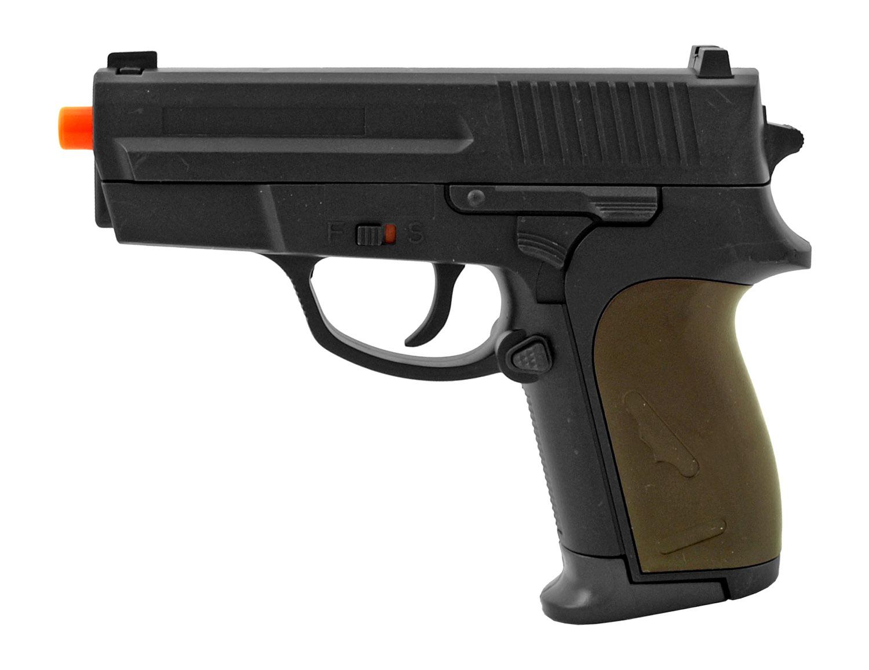 Lancer Tactical P618BAG PPK Spring Powered Airsoft Handgun - Black