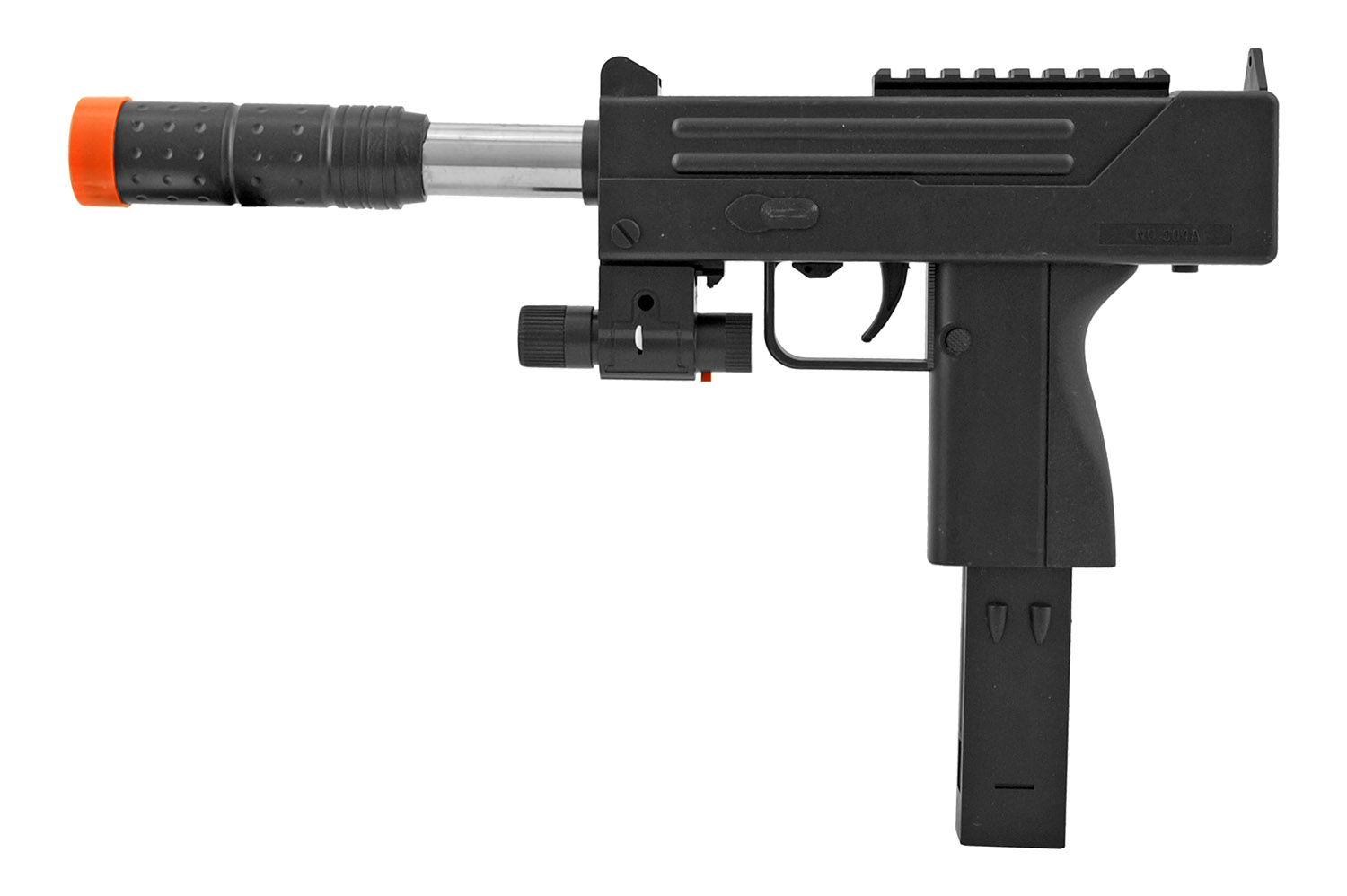 UK Arms P2304BAG Spring Powered Airsoft Rifle with Flashlight Attachment - Black