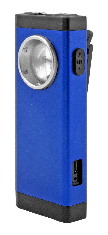 Thunder Blast Belt Clip Stun Gun and Flashlight - Blue