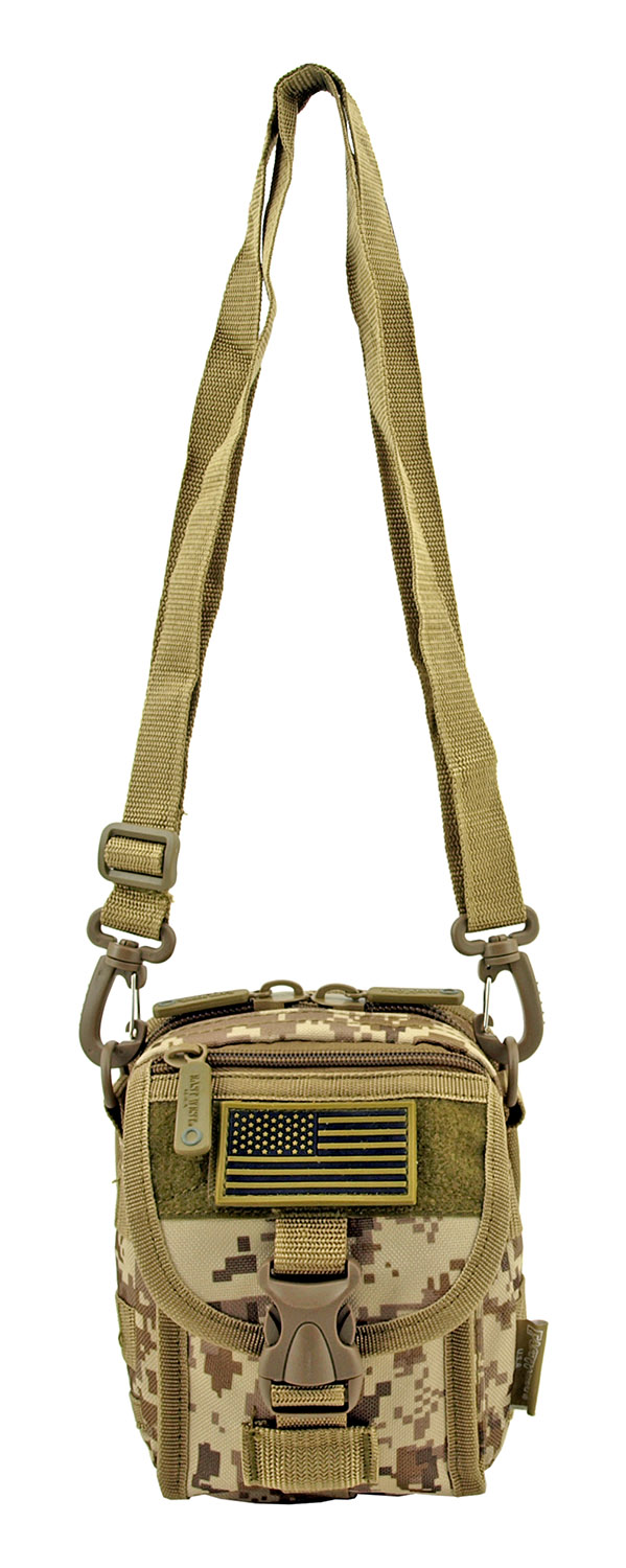 The Tactical Over the Shoulder Everyday Carry Attachment Bag - Desert Tan Digital Camo
