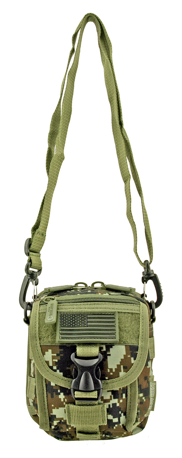 The Tactical Over the Shoulder Everyday Carry Attachment Bag - Green Digital Camo