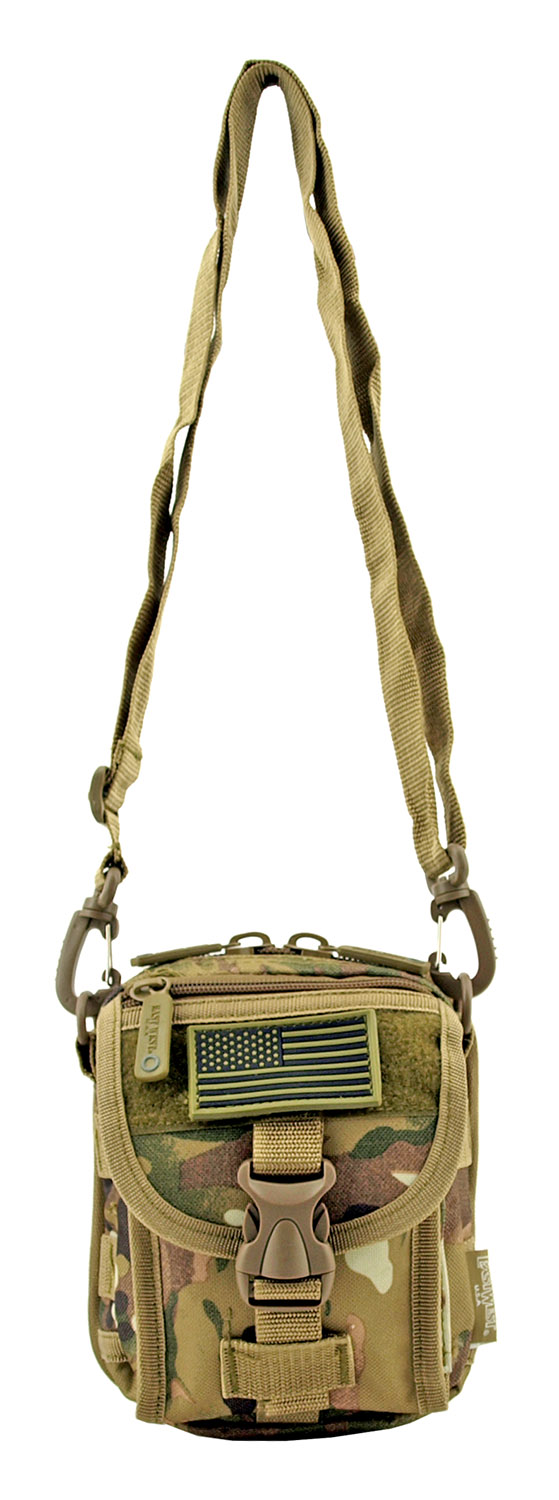The Tactical Over the Shoulder Everyday Carry Attachment Bag - Woodland Multi Camo