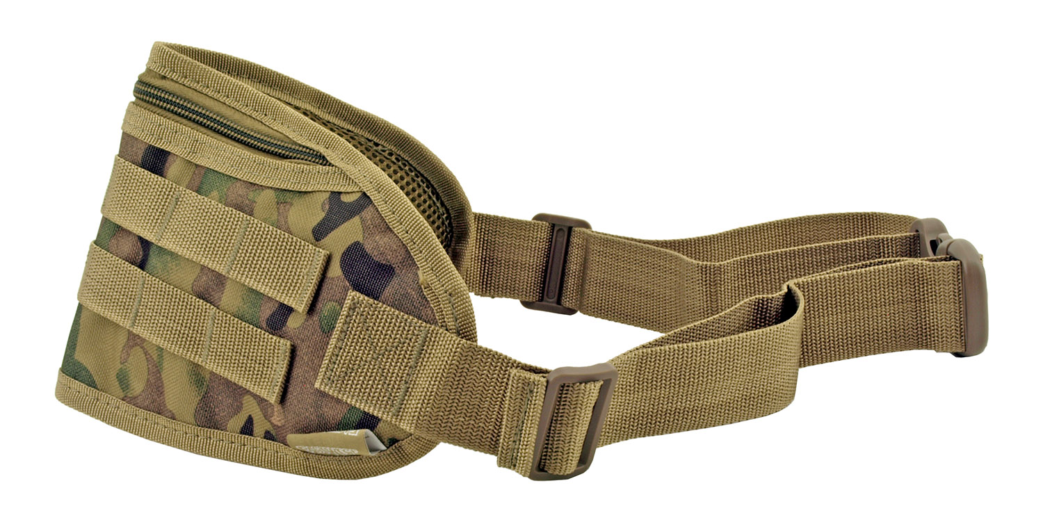 Tactical Fanny Pack Hip Bag with Molle Strap - Woodland Multi Camo