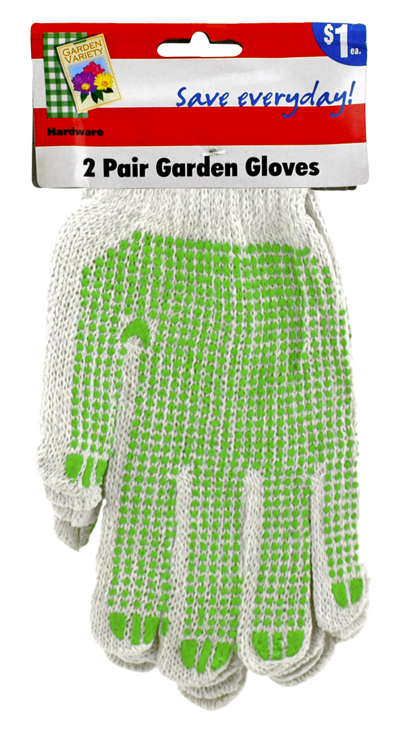 1 Dozen Pairs of Gripper Gardening Gloves