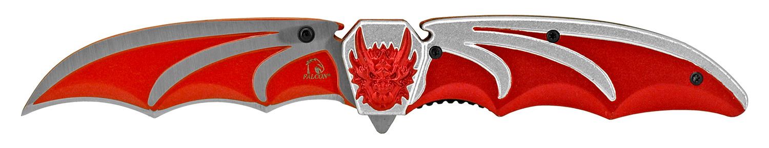 4.63 in Dragon Wing Folding Knife - Red