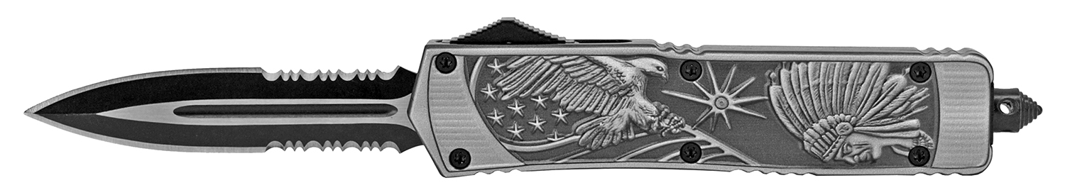 5.5 in American Eagle Indian Chief Out the Front Pocket Knife