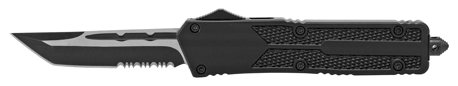 5.5 in Heavy Duty Out the Front Pocket Knife - Black