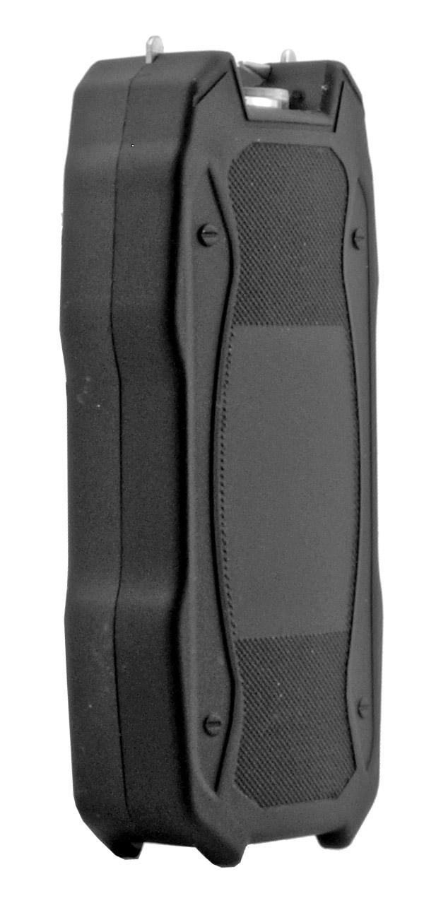 Sleek Modern Concealed Stun Gun with Flashlight - Black