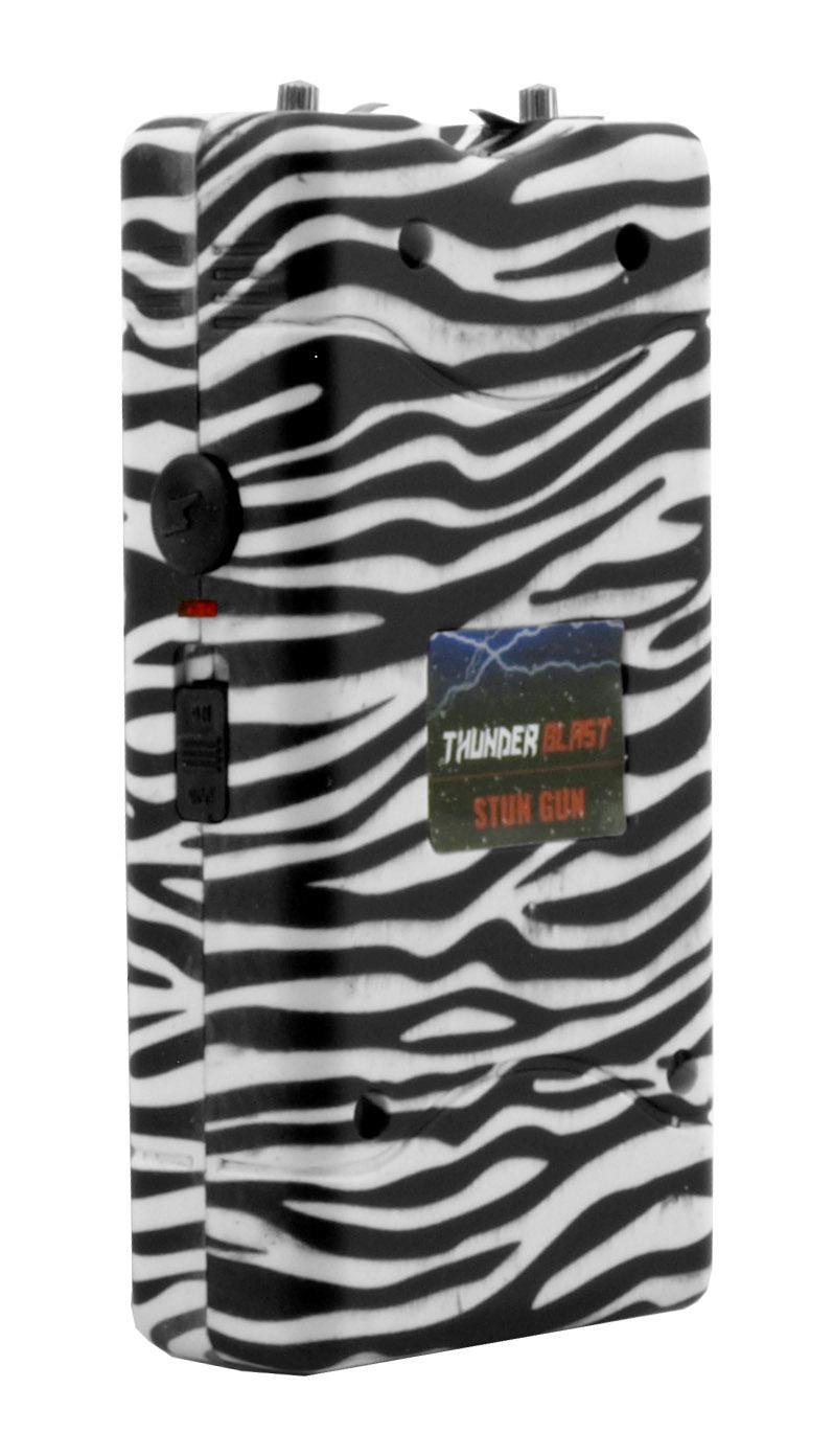 Thunder Blast Traditional Stun Gun and Flashlight - Zebra