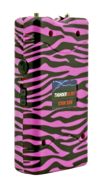 Thunder Blast Traditional Stun Gun and Flashlight - Pink Zebra