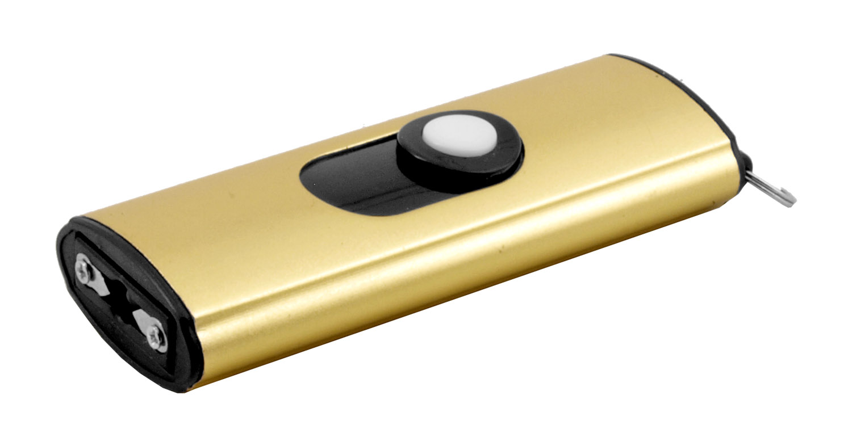 Mini Key Chain Self Defense Stun Gun Flashlight - Golden
