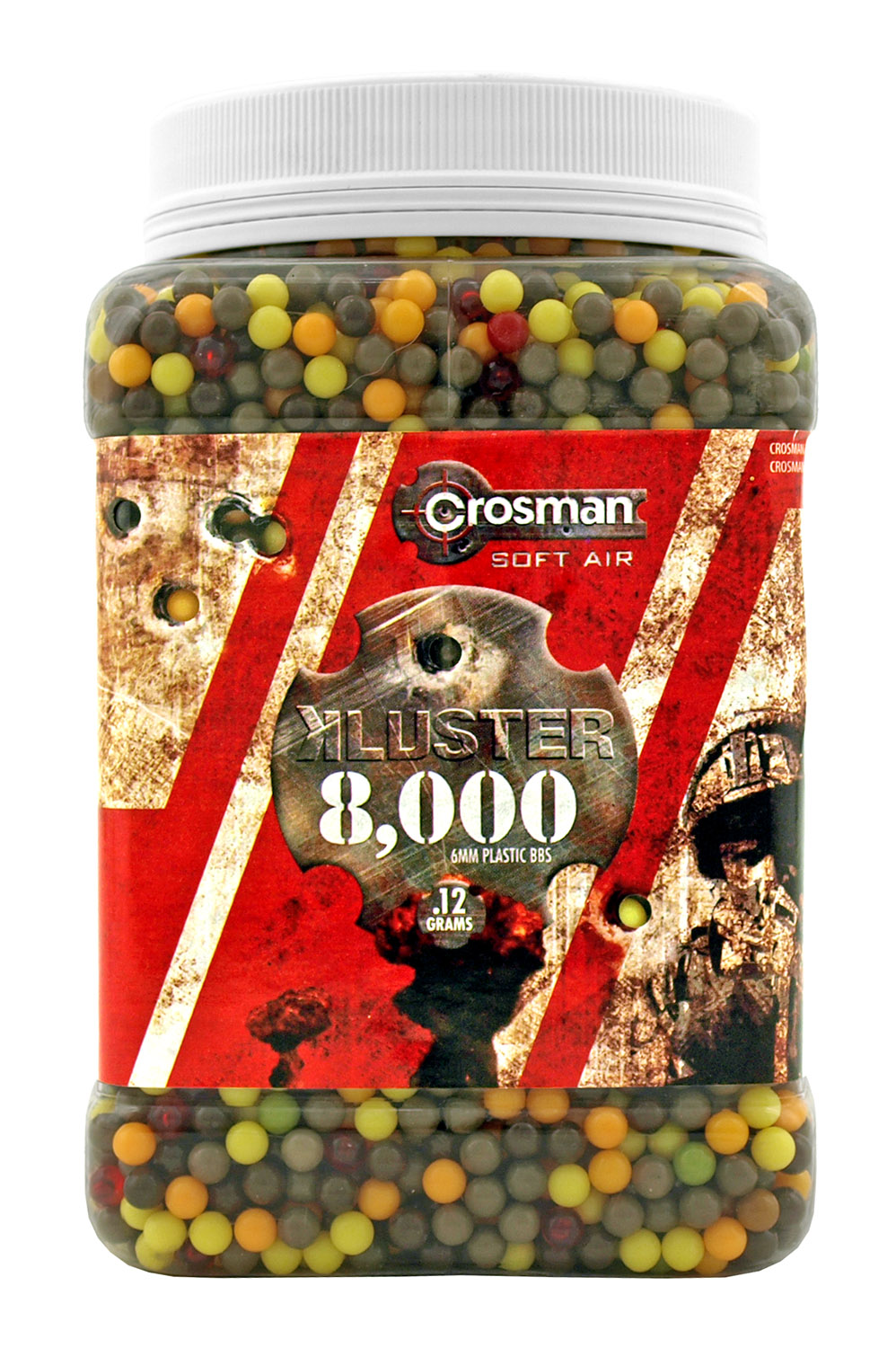 8,000 ct. Crosman .12 Gram Air Soft BB's