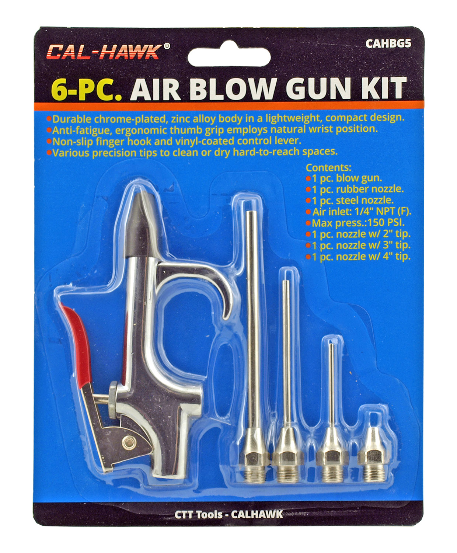 6-pc. Air Blow Gun Kit - Cal-Hawk