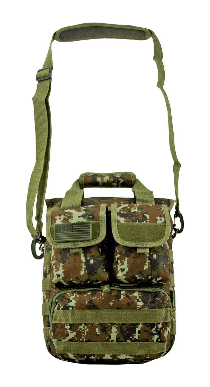 Space Force Tactical MOLLE Digital Tech Deployment Laptop Carrier Hip Bag - Green Digital Camo