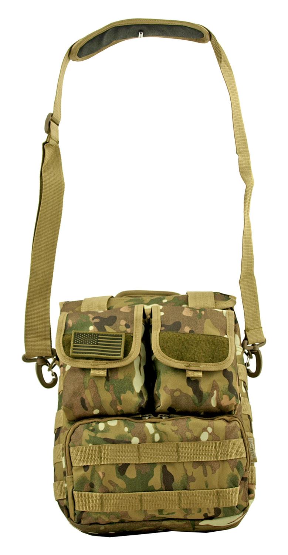 Space Force Tactical MOLLE Digital Tech Deployment Laptop Carrier Hip Bag - Woodland Multicam