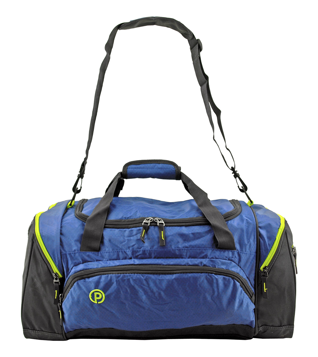 24 in Protégé Carry On Travel Duffel Bag - Grey and Blue