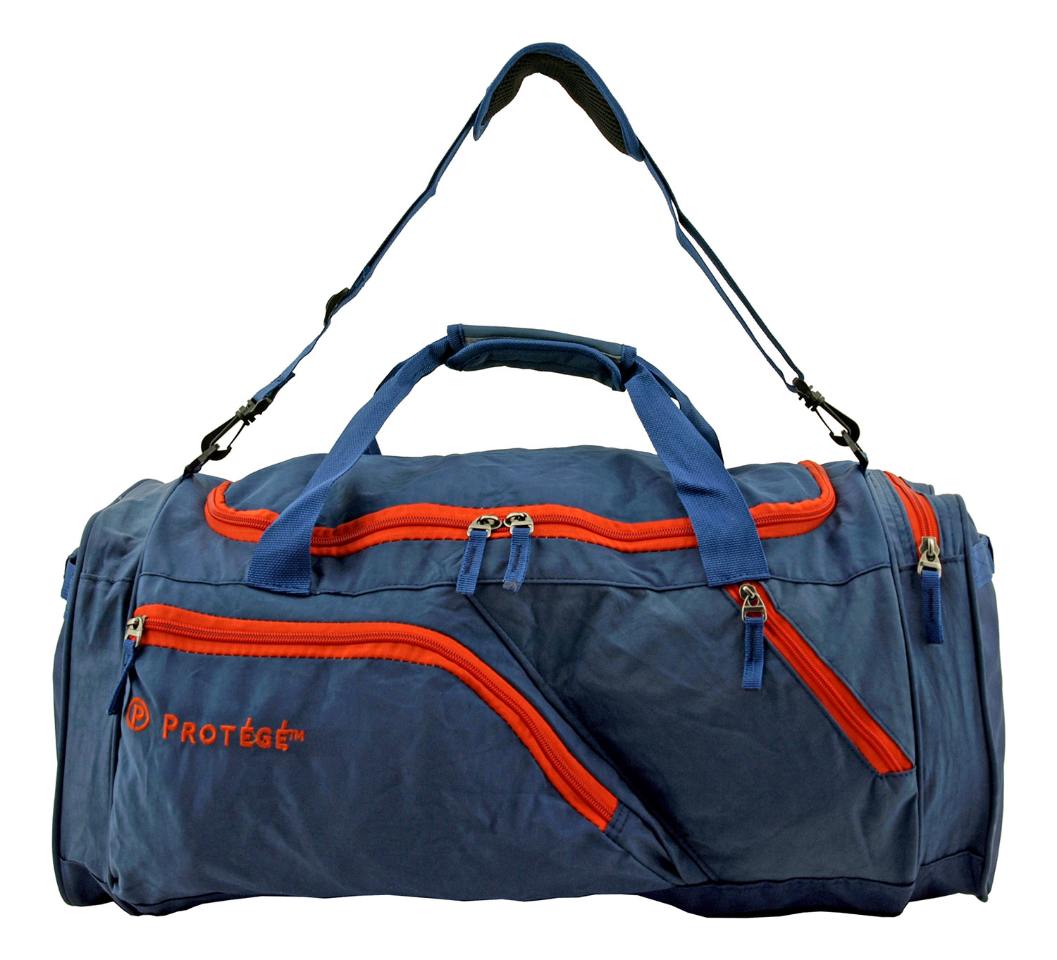 25 in Protégé Carry On Travel Duffel Bag - Blue and Red