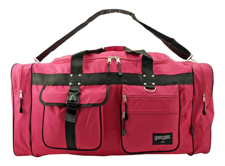 Extra Large Overseas Duffle Bag - Hot Pink