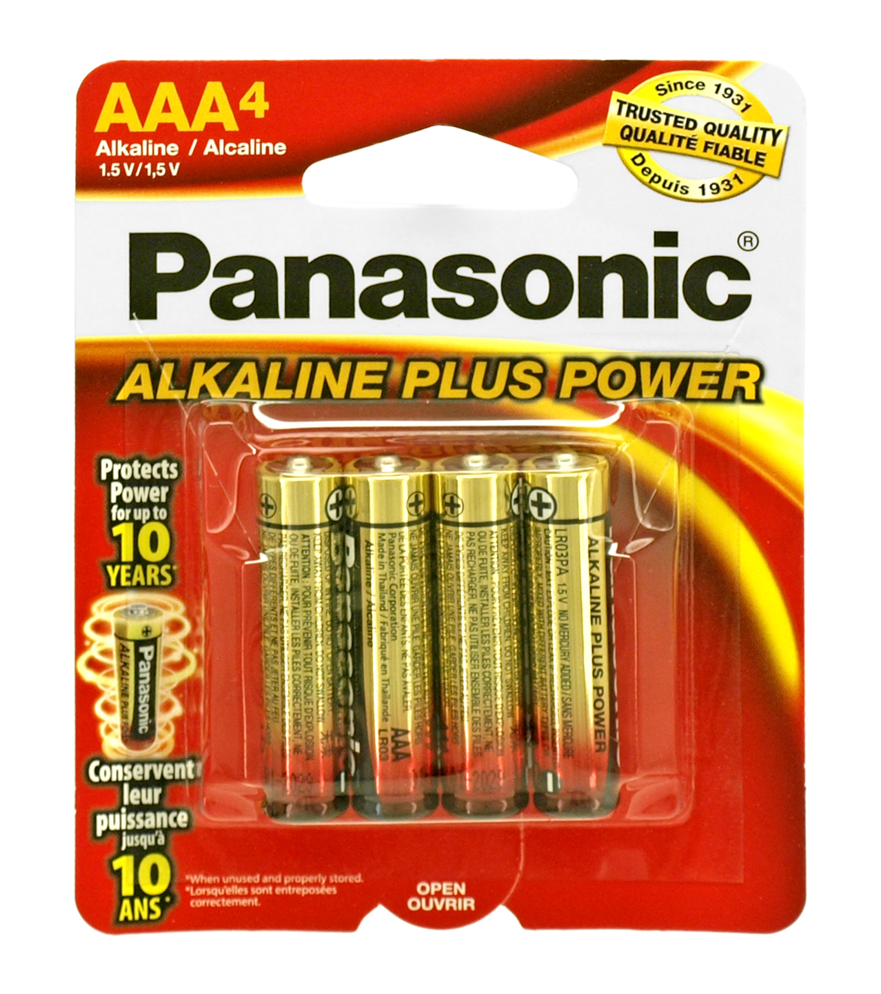 4 - pc. Panasonic AAA Alkaline Battery Pack