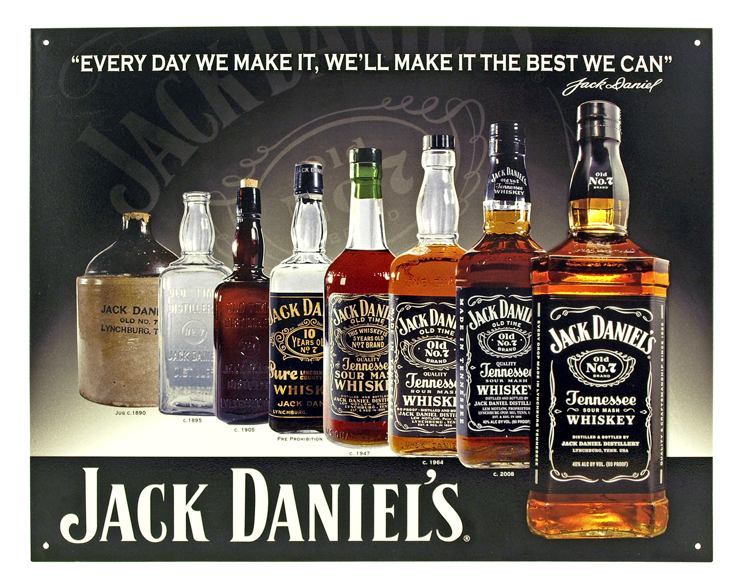 Jack Daniel's Whiskey Metal Bar Sign