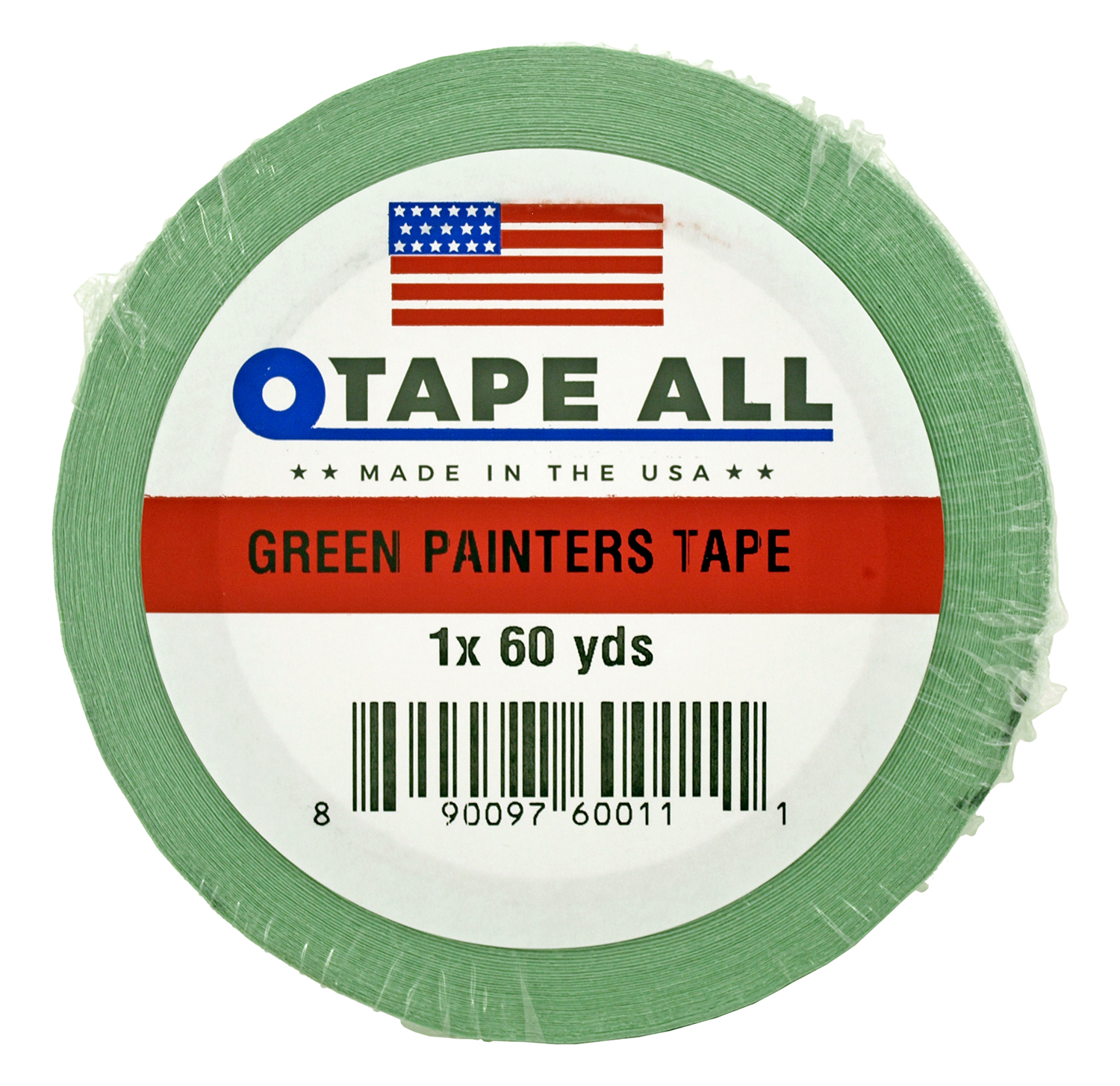 1 in x 60yds. Green Painters Tape