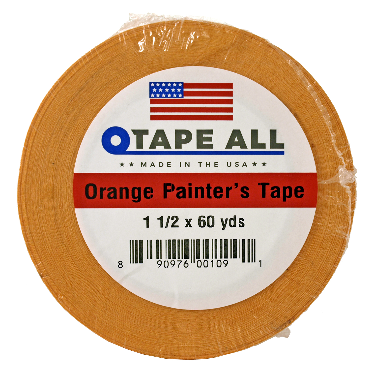 1.5 in x 60yds. Orange Painters Tape