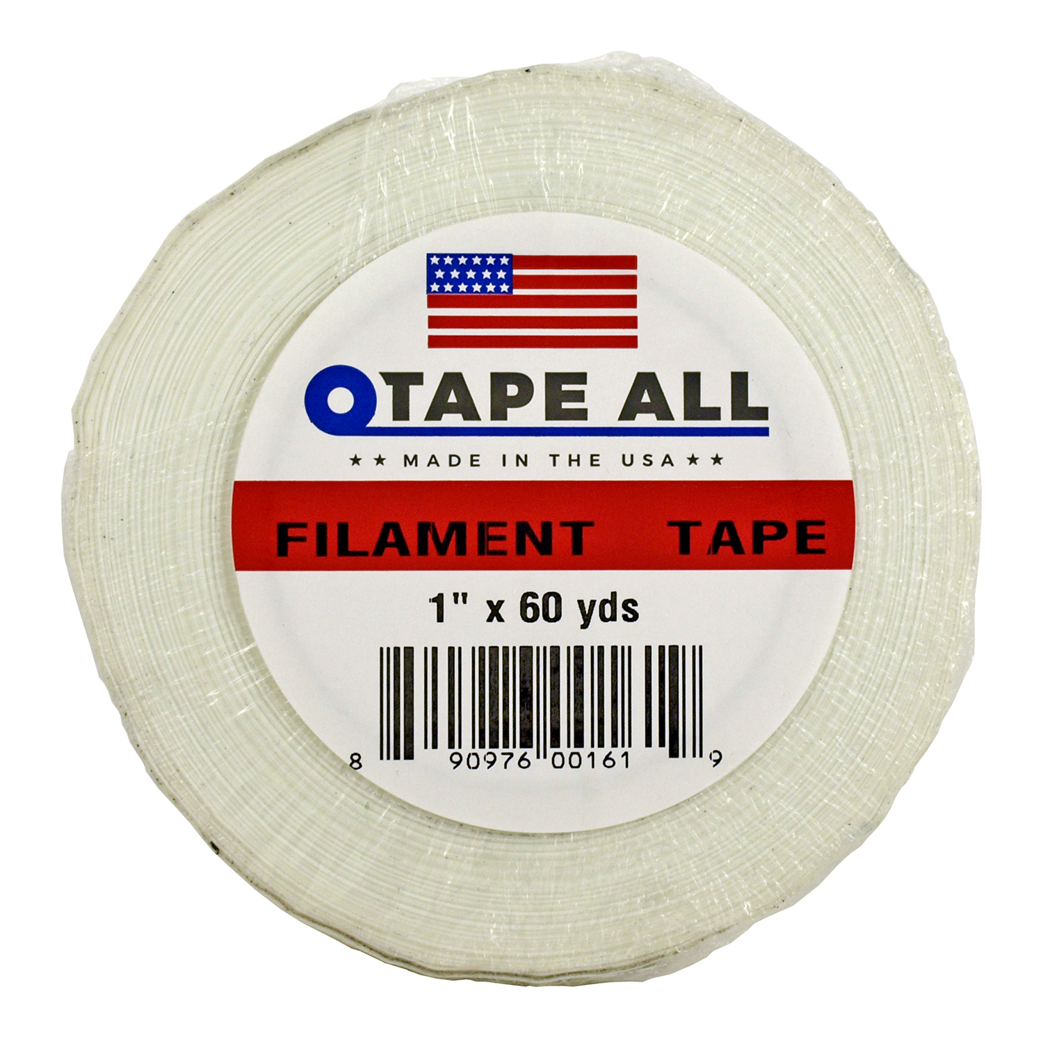 1 in x 60yds. Filament Tape - White