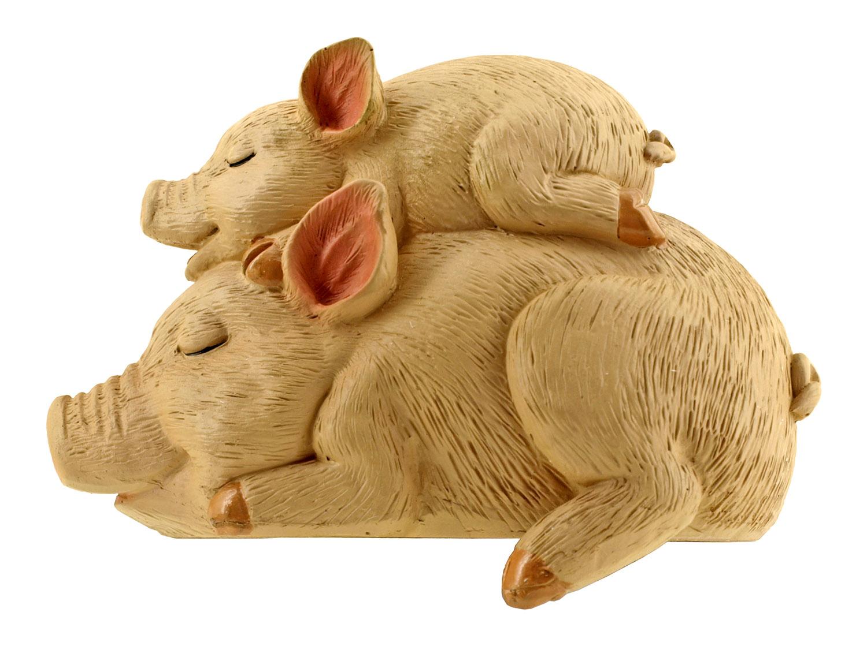 Piggyback Nap - Charlotte's Character Pig and Piglet Figurine - DWK