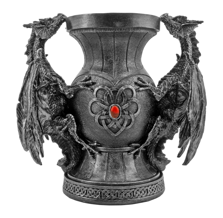 Tarragon's Chalice - Dueling Dragons Targaryen Mother's Day Gothic Flower Vase - DWK