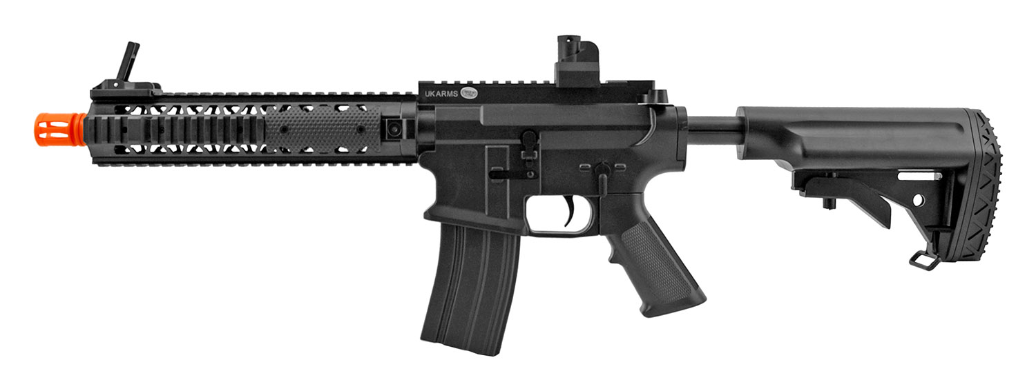 P2211 Quad RIS M4 US Military Assault Style Spring Airsoft Rifle - UKArms
