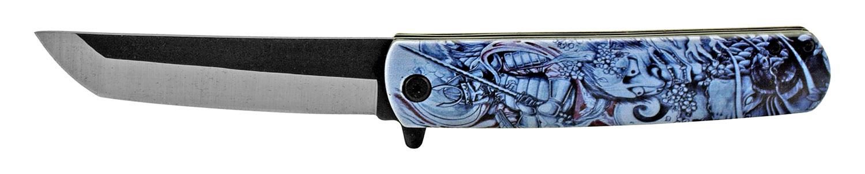 4.75 in Mini Katana Samurai Folding Pocket Knife - Samurai Warrior Squadron