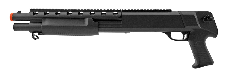 M309 Pump Action Spring Powered Airsoft Pistol Grip Shotgun - Double Eable