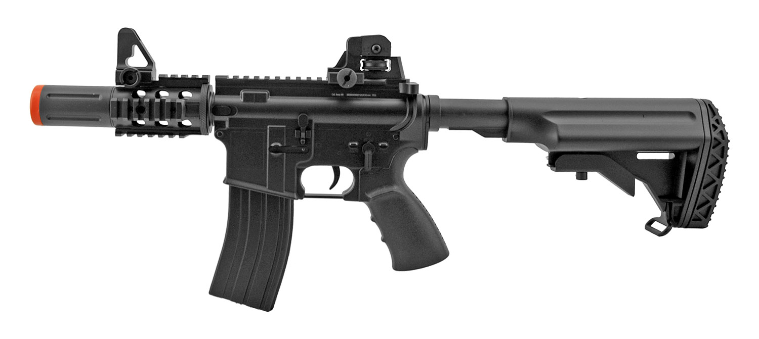 D3813 Hybrid Gearbox M4 Full Auto Military CQB AEG Electric Airsoft Assault Rifle with Compensator - Well
