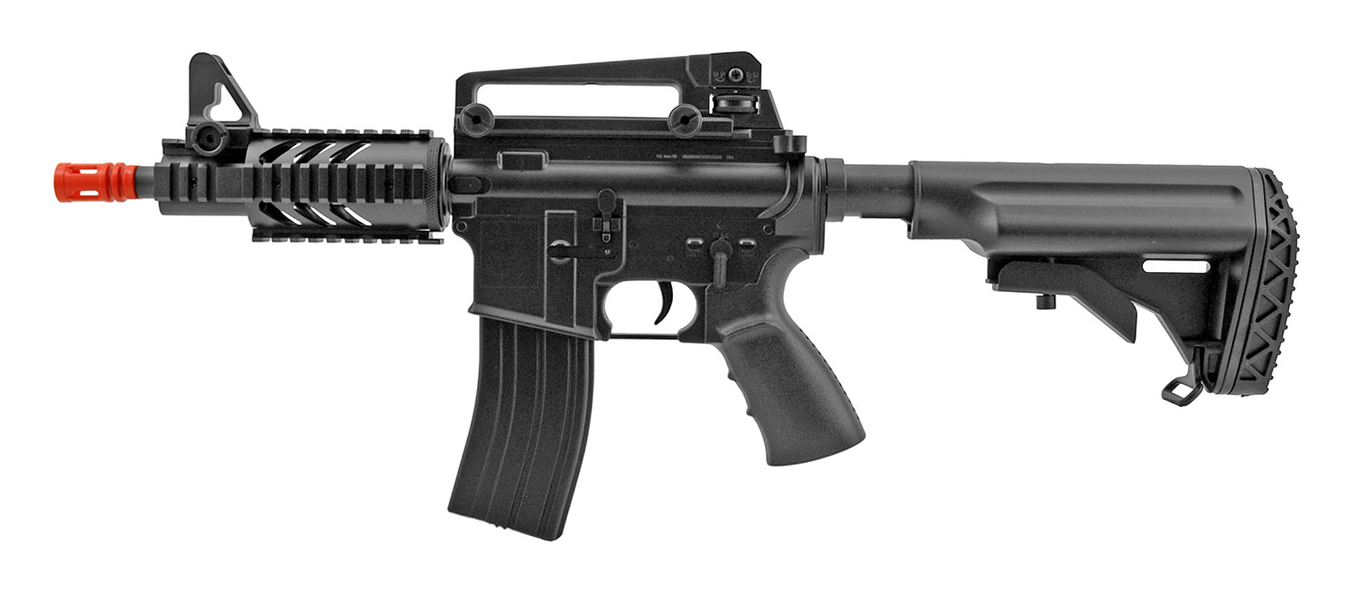 D3809 M4 Stubby RIS Full Auto Military CQB AEG Electric Airsoft Assault Rifle - Well