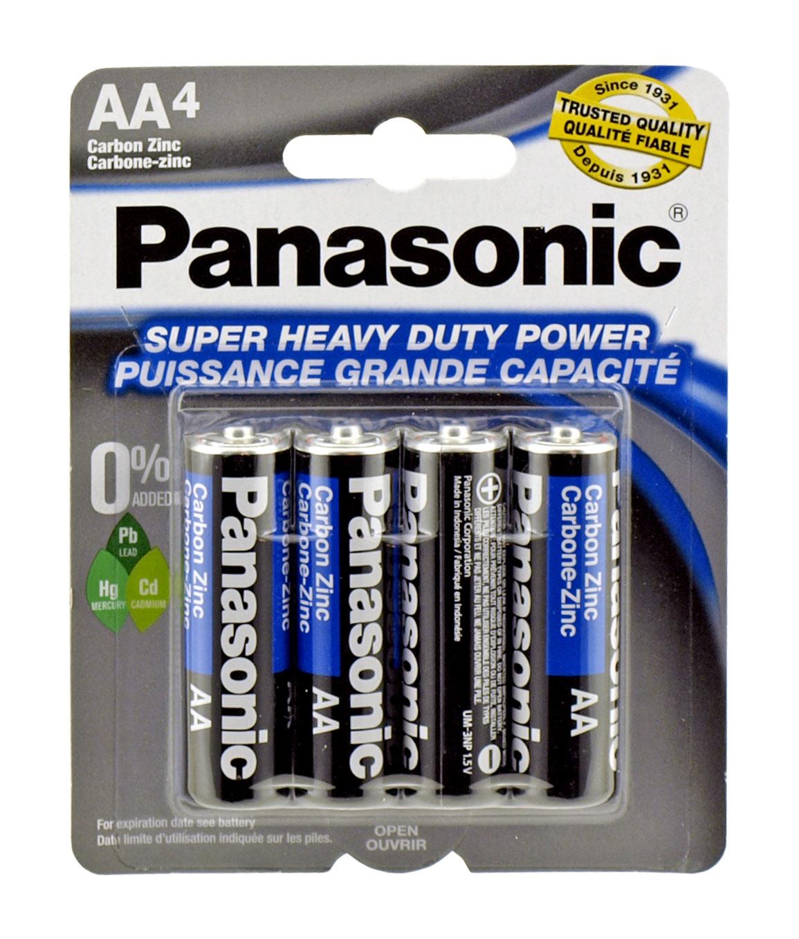 4-pc. AA Super Heavy Duty Batteries