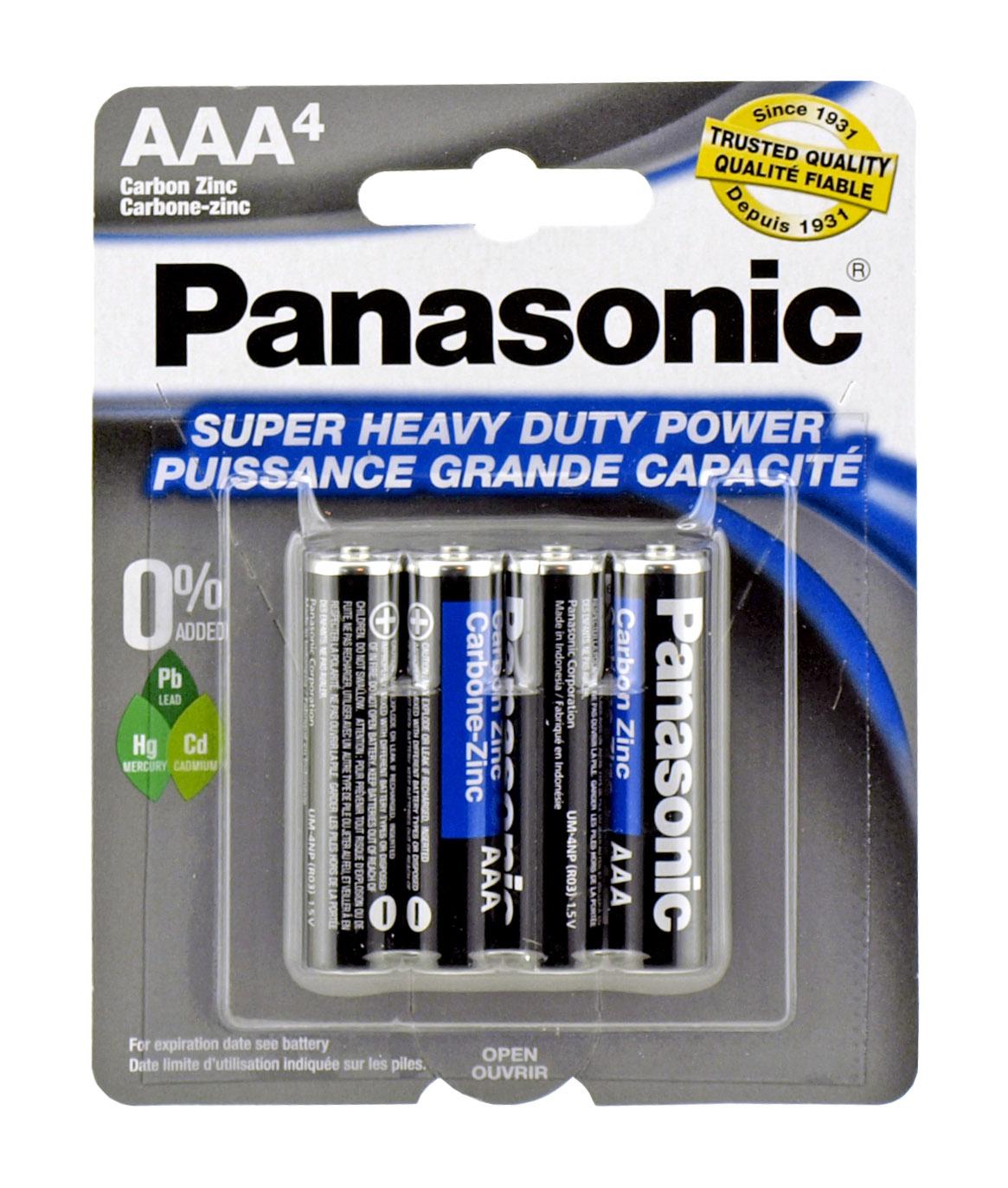 4-pc. AAA Super Heavy Duty Batteries