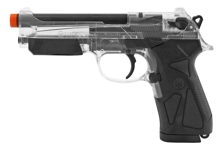 Beretta 90 Two Spring Powered Airsoft Handgun - Clear