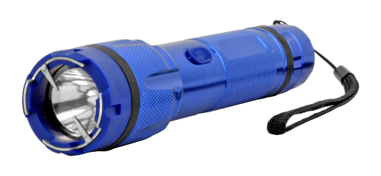 Aluminum Body Traditional Flashlight Stun Gun - Blue