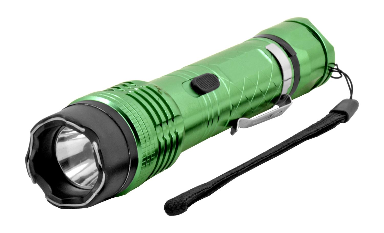The Police Grade Stun Gun Flashlight - Green