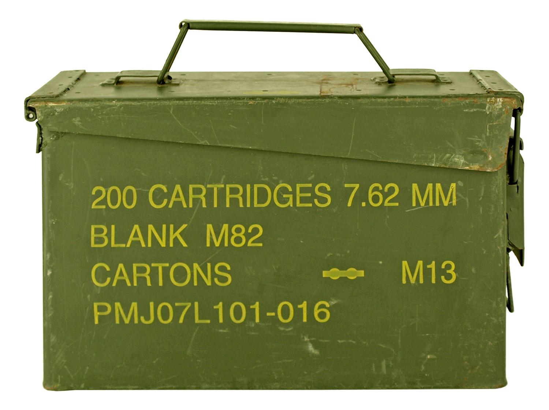 Vintage .30 Caliber Ammo Box Can