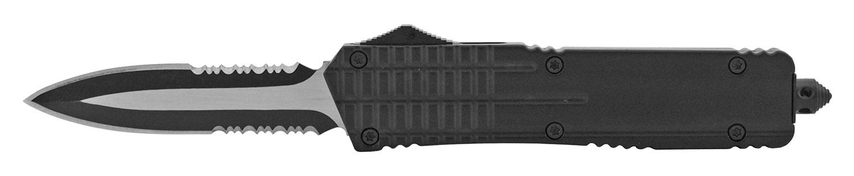 5.5 in Stainless Steel OTF Folding Pocket Knife - Double Edge Blade