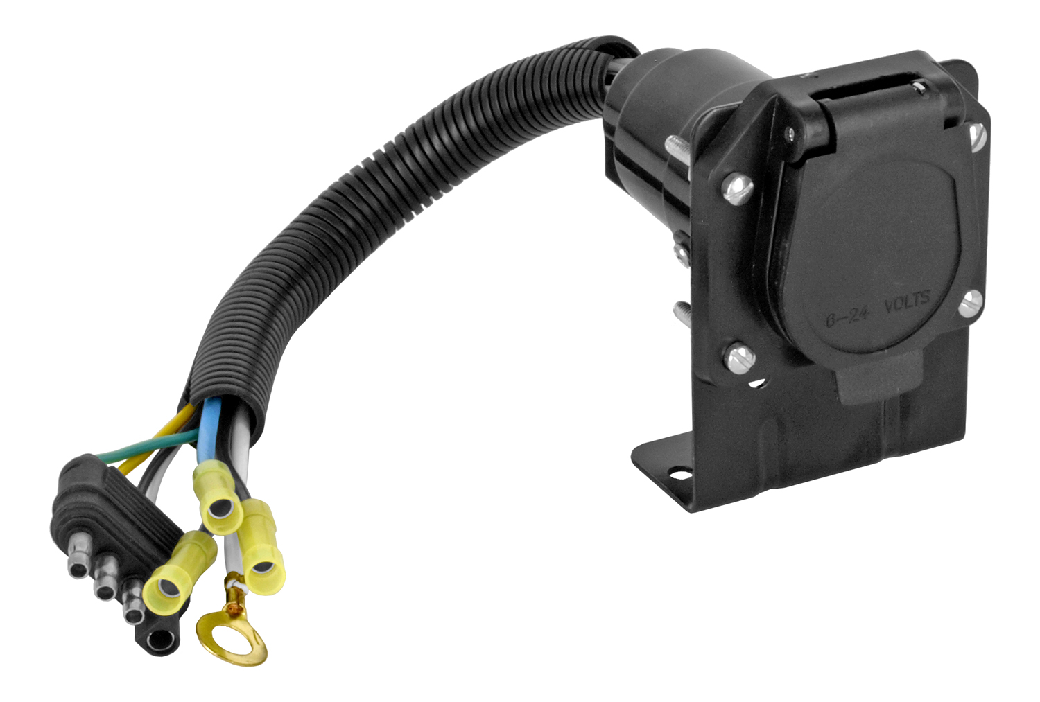 Cal-Hawk 7 Way Trailer Adapter with Wire