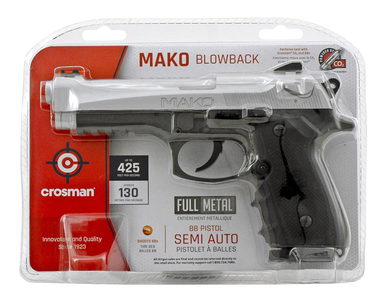 Crosman Mako .177 Cal. CO2 Semi Auto Full Metal Blowback BB Air Pistol