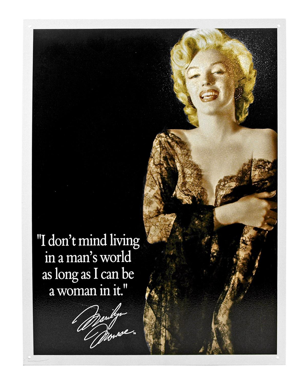 Marilyn Monroe Man's World Metal Tin Wall Sign