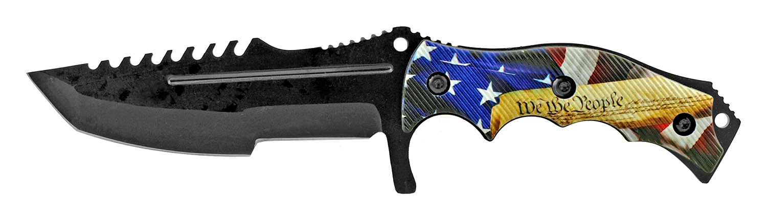 8.5 in Tactical Combat and Survival Knife with Nylon Carrying Sheath - We The People