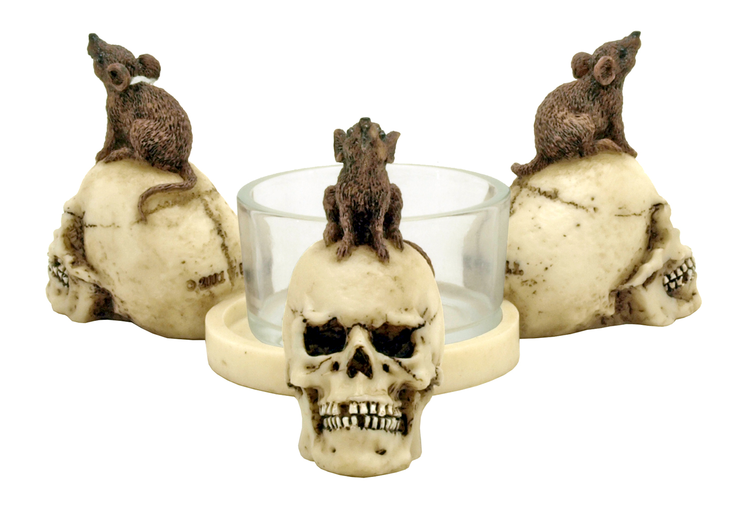 Rats Death Head Tea Candle Holder