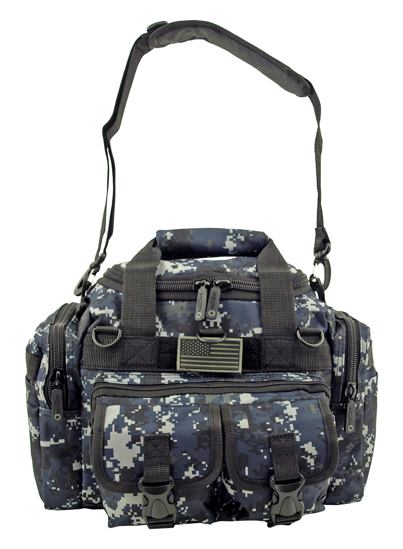 Mini Duffle Carry On Travel Gym Bag - Blue Digital Camo