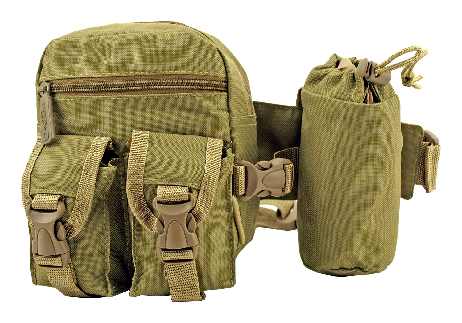 Rock Climbing Trail Hiking Tactical Specific Waist Hip Bag with Water Carrier - Desert Tan