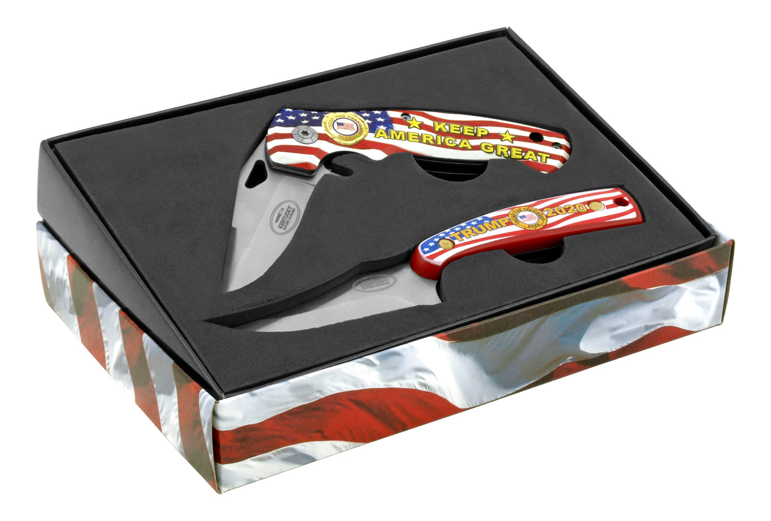 President Trump 2020 - 2 pc. Commemorative Folding Pocket Knife Set